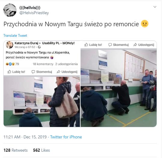 Według internautów zdjęcia miały pochodzić z Nowego Targu