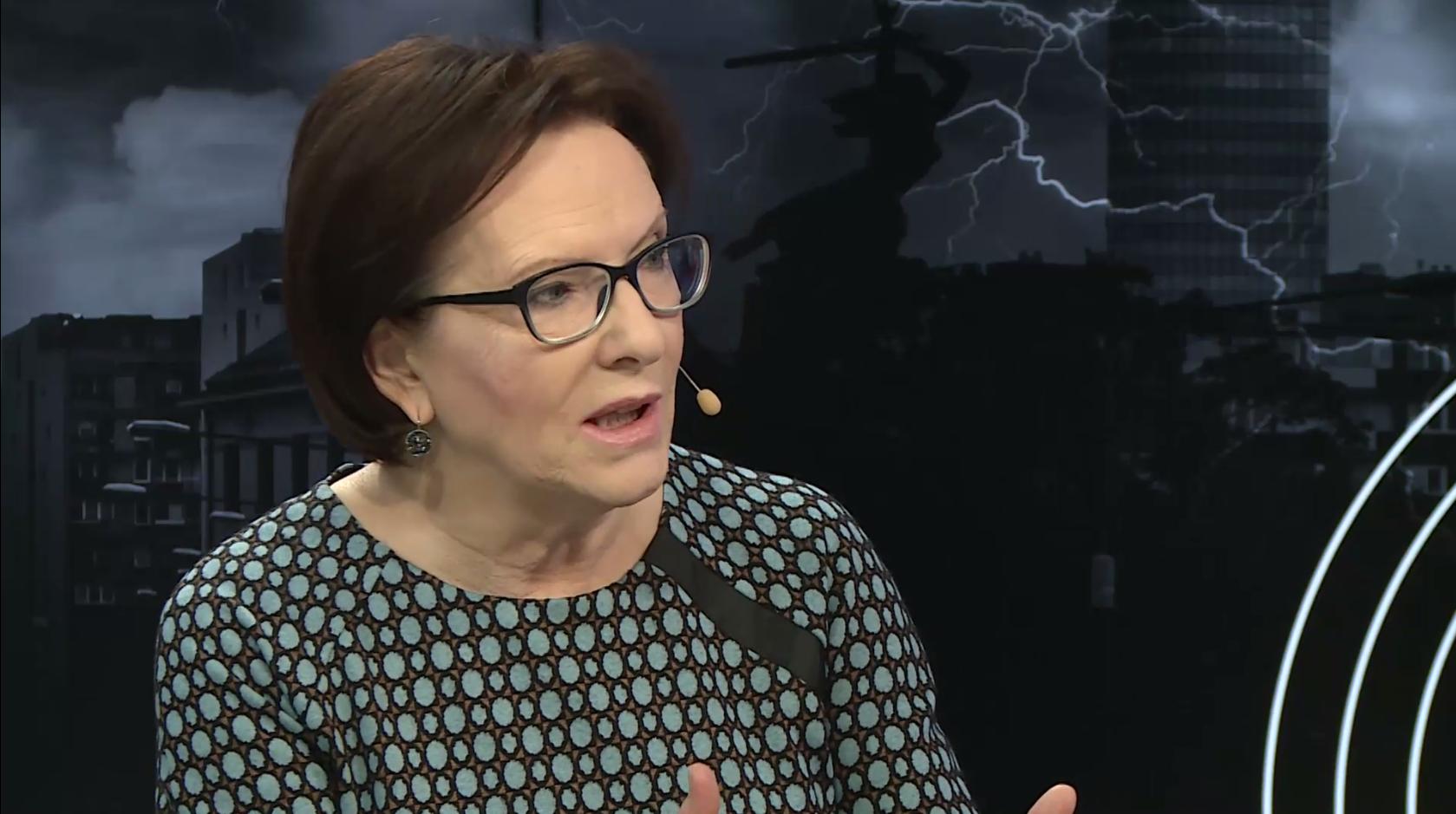 """Ewa Kopacz o dinozaurach w programie """"Fakt Opinie"""""""