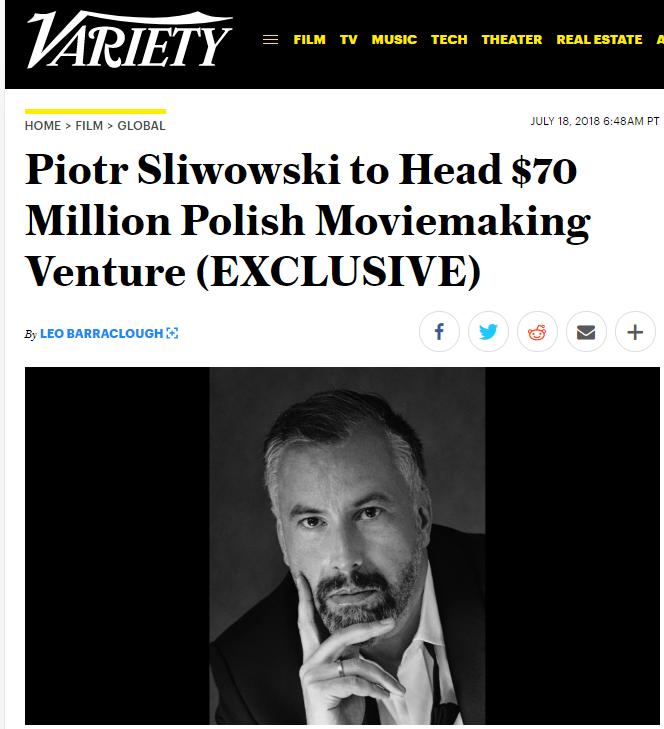 Polski producent filmowy na rozmowach w Hollywood (źródło variety.com)