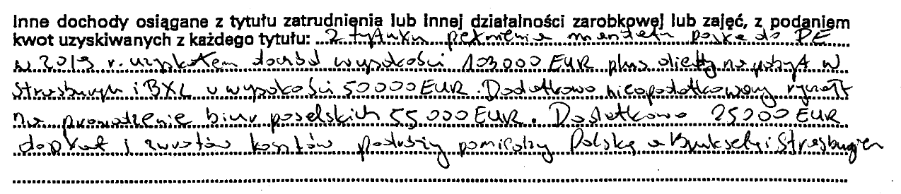 Dochody europosła PiS Tomasza Poręby w 2019 roku