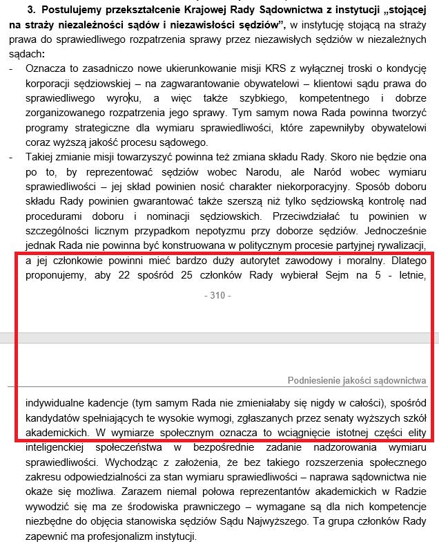Fragment dokumentu PO z 2007 roku