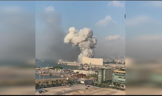 Zarejestrowany moment wybuchu w Bejrucie